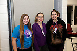Prospect, CT- 18 January 2017-011817CM17-  Social Moments---From left to right, Niki Meka of Watertown, with sisters, Emily and Christine Solla of Waterbury  are photographed during Relay For Life of Greater Waterbury 2017 kick-off celebration at the Prospect Volunteer Fire Department on Wednesday.    Christopher Massa Republican-American