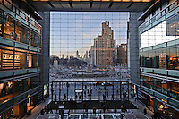 New York City, New York, Time Warner Center. Designed by David Childs of Skidmore, Owings & Merrill LLP, 10 Columbus Circle, Late Modern (International Style III), Interior