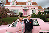 Harvey and Marion Losh have lived in Blue Ridge, in this home, for the past 50 years and married for 56 years. One day she jokingly asked him to paint the house pink to match the car, and he did, much to her surprise. Now they paint their cars to match the house. It probably wouldnt fit into the current property restrictions.