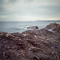 Rocks, Hemmick Beach, Cornwall | Colour