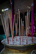 Incense sticks at the Goddess of Mercy temple in capital Georgetown of Penang, Malaysia. The Goddess of Mercy Temple or Kuan Yin Ting is the oldest Chinese temple in Penang, built in 1880s by early immigrants from China. Photo: Sanjit Das/Panos
