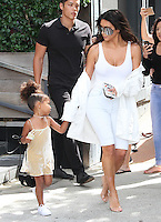NEW YORK, NY - SEPTEMBER 2:  Kim Kardashian West and daughter North West seen leaving their luxury Airbnb in New York, New York on September 2, 2016.  Photo Credit: Rainmaker Photo/MediaPunch