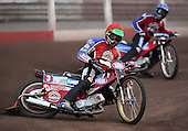 Heat 3 - Kasprzak (red), Lanham (blue) - Lakeside Hammers vs Swindon Robins - Sky Sports Elite League at Arena Essex, Purfleet - 17/08/07  - MANDATORY CREDIT: Gavin Ellis/TGSPHOTO - SELF-BILLING APPLIES WHERE APPROPRIATE. NO UNPAID USE. TEL: 0845 094 6026..