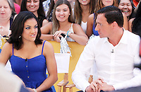 NEW YORK, NY-August 29: Laurie Hernandez, Ryan Lochte, at Good Morning America to talk about new season of Dancing with the Stars in New York. August 29, 2016. Credit:RW/MediaPunch