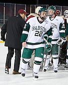 Joe DiPietro (Babson - 22), Ryan Smith (Babson - 25) - The Norwich University Cadets defeated the Babson College Beavers 4-1 on Friday, January 13, 2011, at Fenway Park in Boston, Massachusetts.