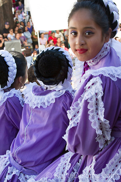 Folklorico dancer at the Day of the Dead celebration at the Bowers Museum in Santa Ana, CA