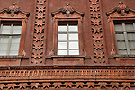 Windows of the interior courtyard at the National Museum of the Italian Risorgimento in Turin, Italy