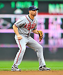 24 September 2011: Atlanta Braves infielder Jack Wilson in action against the Washington Nationals at Nationals Park in Washington, DC. The Nationals defeated the Braves 4-1 to even up their 3-game series. Mandatory Credit: Ed Wolfstein Photo