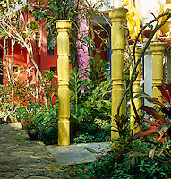 Edward James' house in the centre of his pleasure garden is eye-catching and colourful
