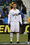 13 December 2009: Akron's Blair Gavin. The University of Virginia Cavaliers defeated the University of Akron Zips 3-2 on penalty kicks after playing to a 0-0 overtime tie at WakeMed Soccer Stadium in Cary, North Carolina in the NCAA Division I Men's College Cup Championship game.