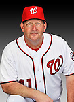 25 February 2011: Trent Jewett, Spring Training Instructor for the Washington Nationals, poses for his portrait on Photo Day at Space Coast Stadium in Viera, Florida. Mandatory Credit: Ed Wolfstein Photo