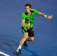 Andy Murray (GBR) (1) against David Ferrer (ESP) (7) in the Semi-Finals of the men's singles. Andy Murray beat David Ferrer 4-6 7-6 6-1 7-6..International Tennis - Australian Open  -  Melbourne Park - Melbourne - Day 12 - Fri 28th January 2011..© Frey - AMN Images, Level 1, Barry House, 20-22 Worple Road, London, SW19 4DH.Tel - +44 208 947 0100.Email - Mfrey@advantagemedianet.com.Web - www.amnimages.photshelter.com