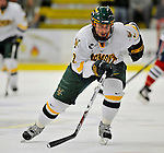 3 February 2008: University of Vermont Catamounts' defenseman Slavomir Tomko, a Senior from Zvolen, Slovakia, in action against the University of Massachusetts Lowell River Hawks at Gutterson Fieldhouse in Burlington, Vermont. The Catamounts defeated the River Hawks 3-2...Mandatory Photo Credit: Ed Wolfstein Photo
