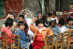 Asia, China, Beijing. Chinese kindergarten class in Hutongs of Beijing.