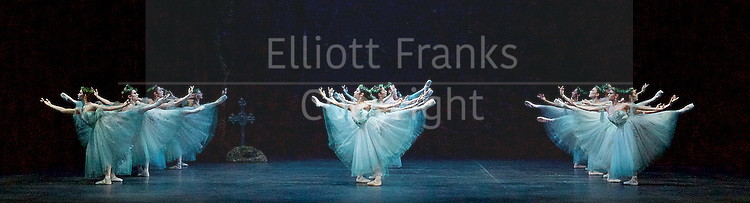 Giselle <br /> English National Ballet at The London Coliseum, London, Great Britain <br /> rehearsal <br /> 10th January 2017 <br /> <br /> The Wilis <br /> <br /> <br /> <br /> Photograph by Elliott Franks <br /> Image licensed to Elliott Franks Photography Services