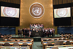 Ending of 23rd Plenary meeting<br /> Group Photo of GA Staff<br /> <br /> General Assembly Seventy First Session: 23rd plenary meeting
