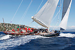 """Shamrock V (JK3) during """"Les Voiles de Saint Tropez"""", France..Shamrock V was built in 1930 for Sir Thomas Lipton's fifth and last America's Cup challenge. Designed by Nicholson, she was the first British yacht to be built to the new J Class Rule and is the only remaining J to have been built in wood."""