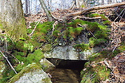 Granite culvert along the old Boston and Maine Railroad in Carroll, New Hampshire USA