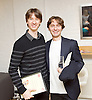 The Critics' Circle National Dance Awards 2015 <br /> at The Place, London, Great Britain <br /> 25th January 2016 <br /> <br /> <br /> Vadmin Muntagirov and Ivan Putrov ahead of the awards ceremony <br /> <br /> Photograph by Elliott Franks <br /> Image licensed to Elliott Franks Photography Services