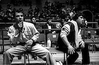 Roma Palazzetto dell Sport.Boxe dilettanti.Consigli da bordo ring