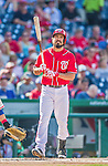 6 September 2014: Washington Nationals infielder Anthony Rendon stands at the plate during game action against the Philadelphia Phillies at Nationals Park in Washington, DC. The Nationals fell to the Phillies 3-1 in the second game of their 3-game series. Mandatory Credit: Ed Wolfstein Photo *** RAW (NEF) Image File Available ***