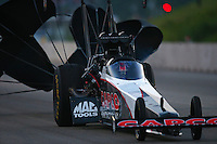 Jun 3, 2016; Epping , NH, USA; NHRA top fuel driver Steve Torrence during qualifying for the New England Nationals at New England Dragway. Mandatory Credit: Mark J. Rebilas-USA TODAY Sports