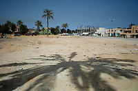 Zawiya, Libya, April 3, 2011..An old mosque stood in the centre of the main city square, it was used as a field hosptal by the rebels during the February 2011 upraisal, Khaddafi's forces razed it to the ground when they retook control of the square....