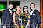 Alan Fitzgerald, Claire O'Donoghue with Rheanne O'Shea and Brian Kelly at the Kerry GAA gala ball in the INEC on Saturday night