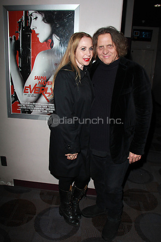 "BEVERLY HILLS, CA - FEBRUARY 28: Jenise Blanc, Randy Chance at the ""Everly"" Opening Weekend Splatter-Ganza at Laemmle's Music Hall, Beverly Hills, California on February 28, 2015. Credit: David Edwards/DailyCeleb/MediaPunch"