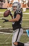 Oakland Raiders wide receiver Seth Roberts (10) gets up after catching pass on Sunday, December 04, 2016, at O.co Coliseum in Oakland, California.  The Raiders defeated the Bills 38-24.