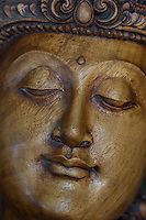 magnificent statue of The Buddha carved in wood