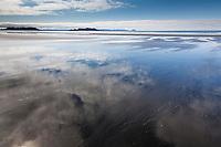 Broad sandy shores of Softuk bar, Gulf of Alaska, southcentral.