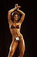 Los Angeles, 1980. Peggy Russell at California Women's Bodybuilding Championship.