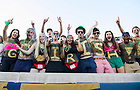 Sept. 6, 2014; Student section during the Michigan game. (Photo by Barbara Johnston/ University of Notre Dame)