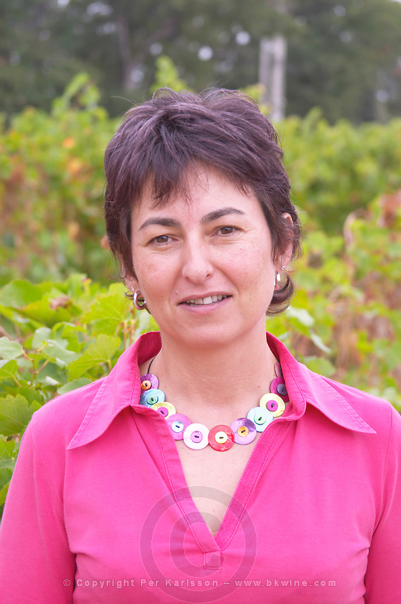 Christine Saurel owner domaine montirius vacqueyras rhone france