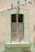 Window of an old house in the 19th century mining town of Mineral de Pozos, Guanajuato, Mexico.