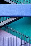 Colorful stairway in La Placita Village, Tucson, Arizona
