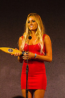HONOLULU, Oahu, Turtle Bay Resort. Thursday 6th 2012. Alana Blanchard (HAW). .Since moving the show to Oahu's North Shore three years ago, the 2012 SURFER Poll saw its largest turn out ever. From surfing's best to local legends, the packed house witnessed another historic night, as Kelly Slater (USA) and Stephanie Gilmore (AUS) won this year's Men's and Women's Polls. Gabriel Medina (BRA) won the Andy Irons Break Out Performer of the year award and finished #4 on the Surfer Poll while Dane Reynolds (USA) picked up two awards as well. Photo: joliphotos.com