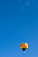 A hot air balloon rises into the sky during the annual Carolina BalloonFest, held each fall in Statesville, NC. Photos were taken at the October 2008 event.