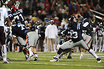 Ole Miss kicker Bryson Rose (81) kicks a field goal in the third quarter vs. Texas A&amp;M at Vaught-Hemingway Stadium in Oxford, Miss. on Saturday, October 6, 2012. Texas A&amp;M rallied from a 27-17 4th quarter deficit to win 30-27.