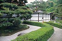 The entrance garden to Ginkaku-ji is a study in controlled shapes and forms.