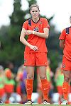 17 October 2013: Syracuse's Stephanie Skilton. The University of North Carolina Tar Heels hosted the Syracuse University Orangemen at Fetzer Field in Chapel Hill, NC in a 2013 NCAA Division I Women's Soccer match. UNC won the game 1-0.