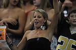 An Ole MIss fan cheers at the Louisiana Superdome in New Orleans, La. on Saturday, September 11, 2010. The play was called back because of penalty. Ole Miss won 27-13.