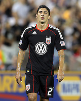 Pablo Hernandez #21 of D.C. United during an MLS match against Seattle Sounders FC at RFK Stadium on July 15 2010, in Washington DC.Seattle won 1-0.