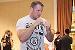 May 26, 2011; Matt Hamill works out for the media in preparation for UFC 130 at the MGM Grand in Las Vegas, NV.