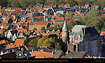 Prinsenhof Duke's Palace, West View from atop the Belfort Bell Tower, Bruges, Brugge, Belgium