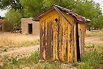 Rustic wooden outhouse, Encino, New Mex.