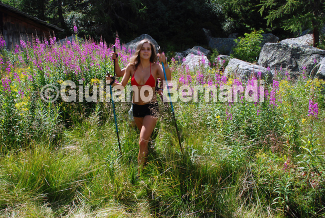 photo model photo model in the nature