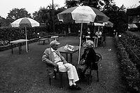 Elderly members of Anglo Indian community hanging out at the Rangers Club, administered and attended mainly by the Anglo Indians, in Kolkata.