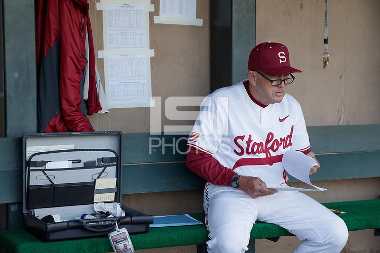 Stanford, CA - April 14, 2017:  Stanford wins 5-3 over UCLA at Sunken Diamond.